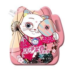 Baimao 白猫 洁净柔香洗衣液 桃花版 2.5kg *4件