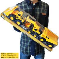乐吉儿 耐摔工程车挖掘机模型沙滩儿童节男孩玩具仿真工程车 677-34(3只装)