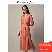 Massimo Dutti 女装 2019缀扣设计交叉连衣裙女超仙长裙 06646720638