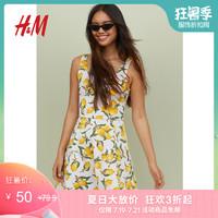 H&M DIVIDED女装连衣裙 2019春季新款无袖汗布连衣裙HM0681180