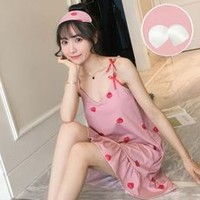 韩倩诺 夏季吊带睡裙 M-XXL码 多款可选 送同款眼罩