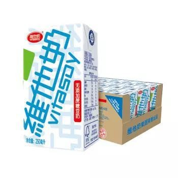 维他奶 无糖豆奶 无添加蔗糖豆奶植物奶蛋白饮料250ml*24盒 网红推荐 营养无糖早餐奶 饮料整箱装 *4件