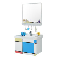 ssww 浪鲸卫浴 6119 实木浴室柜+洗手陶瓷盆+挂镜组合