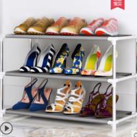 鞋架多层简易家用经济型收纳防尘鞋柜进门宿舍门口小鞋架子省空间
