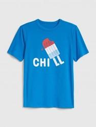妙趣图案圆领短袖T恤