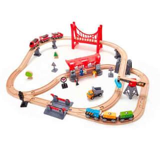 Hape E3730 木制火车轨道多功能套装