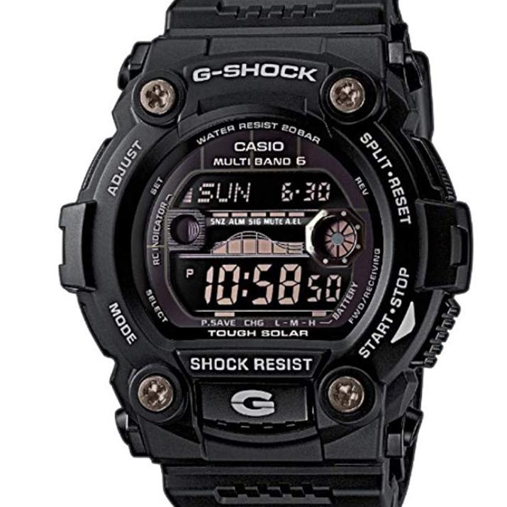 CASIO 卡西欧 GW-7900B-1ER 男士太阳能手表 50mm 塑料 黑色 圆形