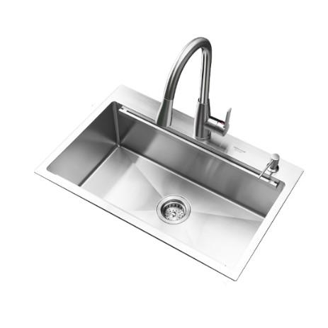 美仕杰 不锈钢多功能手工单槽水槽 700mm
