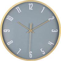 简约现代钟表挂钟客厅大气铜框窄边挂钟时尚创意北欧轻奢静音时钟