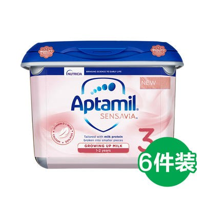 Aptamil 爱他美 Sensavia 低敏粉金版 婴幼儿奶粉 3段 800g 6罐装