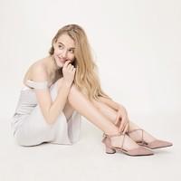 DAPHNE 达芙妮 1019102027 女士绒面单鞋