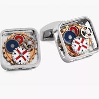 TATEOSSIAN 英国RT系列方形珐琅彩色齿轮袖扣