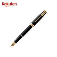 PARKER 派克 卓尔系列 钢杆磨砂墨水笔 18K金笔尖 钢笔 磨砂黑GT F+吸墨器