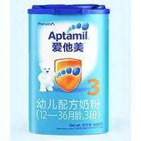 Aptamil 爱他美 婴幼儿配方奶粉 中文版 3段 800g *4件