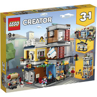 LEGO 乐高 Creator3合1创意百变系列 31097 宠物店和咖啡厅排楼