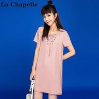 La Chapelle 拉夏贝尔 30072839 女士直筒连衣裙 +凑单品