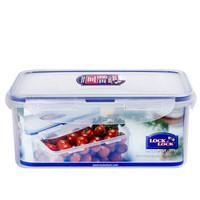 乐扣乐扣 塑料保鲜盒大号装饭盒 大容量密封零食品水果便当盒餐盒 厨房收纳盒冰箱冷冻储物盒子 长方形 1.4L