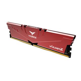Team 十铨 火神系列 8GB DDR4 3200 台式机内存条 红色