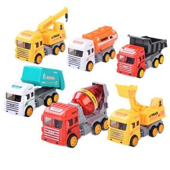 兒童玩具工程車套裝 城市工程隊6只裝