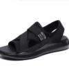 Haut Ton 皓顿 LX037 凉鞋男士沙滩鞋透气休闲鞋子男款 LX037 黑色 43