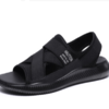Haut Ton 皓顿 凉鞋男士沙滩鞋透气休闲鞋子男款 LX037 黑色 42
