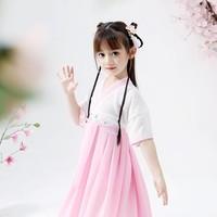 小皮糖猫 女童汉服连衣裙