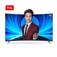 TCL 65T3S 65英寸超高清4K人工智能 全面屏曲面 7.9mm金属超薄电视(黑色)