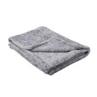 网易严选 轻便办公居家多用绒毯 法兰绒面料加厚办公室午睡毯沙发毯披肩毯子 麻灰