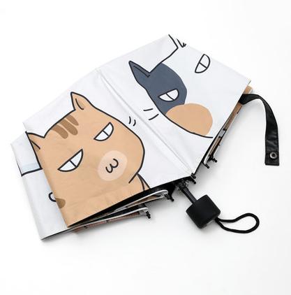 十一宫 可爱猫咪 黑胶晴雨伞