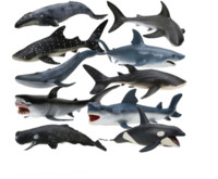 活石 海洋动物仿真动物模型 送12棵水草