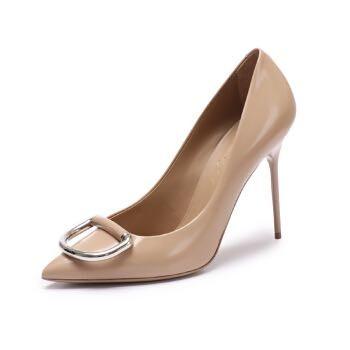 BURBERRY 巴宝莉 80069561 女士裸色高跟鞋