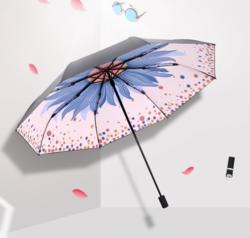 天堂 插画手绘风 遮阳晴雨伞