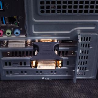 威迅(VENTION)DVI转VGA转接头 DVI-I(24+5)母转VGA公转换器 电脑显卡接显示器投影仪 黑DV350VG