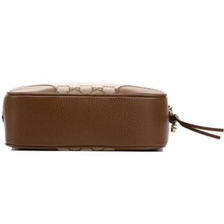 GUCCI 古驰 女士牛皮配棕色帆布拼接相机包单肩斜挎包 449413 KY9LG 8610