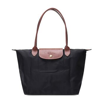 LONGCHAMP 珑骧 女款黑色尼龙长柄小号购物袋 2605 089 001