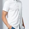 SEVEN 柒牌 衬衫柒牌男士翻领短袖衬衫中青年商务休闲时尚波点棉衬衣男修身 110A38090