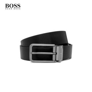 Hugo Boss 雨果博斯 皮带男2019新款气质简约商务休闲皮革针扣腰带50273669 001-黑色 ONESI