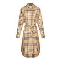 BURBERRY 博柏利 女士古典黄色棉质格纹系腰衬衫式连衣裙  80139461 8