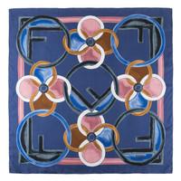 FENDI  芬迪 女士深蓝色桑蚕丝丝巾  FXT091 A6DP F0BEF