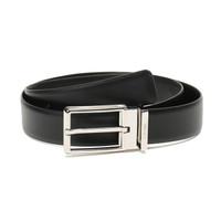 Ermenegildo Zegna 杰尼亚 奢侈品 19新款 男士黑色牛皮针扣式皮带腰带配包装盒 BVICA5 605A NER 110cm