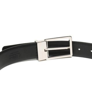 Ermenegildo Zegna 杰尼亚 奢侈品 19新款 男士黑色牛皮针扣式皮带腰带配包装盒 BVICA5 605A NER