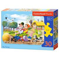 Castorland巧思 波兰进口拼图30片 儿童系列 拔萝卜03242 *3件