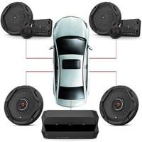 JBL汽车音响改装 6.5英寸车载扬声器 四门喇叭+功放套餐
