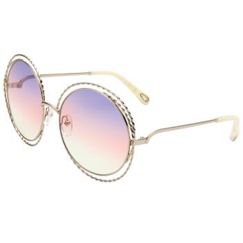 蔻依 女款太阳镜金色镜框紫粉色渐变镜片眼镜太阳镜 CE114ST 779 58mm