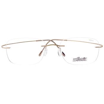 Silhouette 诗乐 光学眼镜架眼镜框男女款金色镜框金色镜腿 5515 CR 7531 54MM