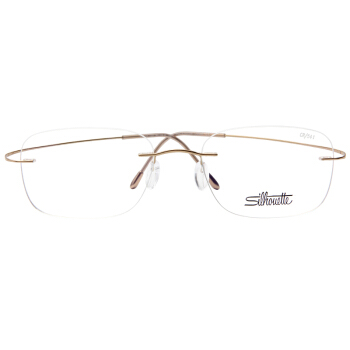 Silhouette 詩樂 光學眼鏡架眼鏡框男女款金色鏡框金色鏡腿 5515 CR 7531 54MM