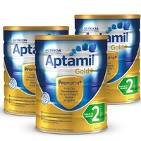 Aptamil 爱他美 金装 婴儿奶粉 2段 900g 3罐装