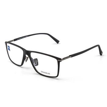 ZEISS 蔡司 纯钛男女全框眼镜架配镜近视光学镜架ZS-75005-F920 磨砂黑色