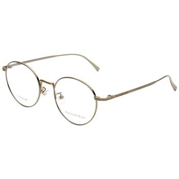 Ermenegildo Zegna 杰尼亚 男款金色镜框金色镜腿光学眼镜框眼镜架 EZ5113D 034 50MM
