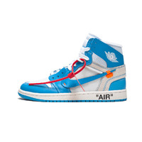 nike Air Jordan AJ乔丹 AQ0818-148 Air Jordan 1 x Off-White联名 北卡蓝 UNC